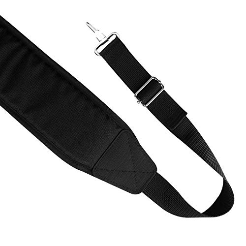LZFAN Golf Bag Shoulder Strap, Single Padded Adjustable Straps Universal Replacement (All in Black)