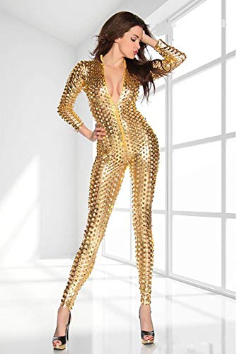 Wet Look Lingerie Hueco Charol Catsuit Agujer