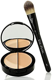 EVE PEARL HD 50:50 Dual Foundation Full Coverage Long Lasting Lightweight Texture Vitamin E Skincare And 101 Foundation Brush Set Makeup Kit (Light)
