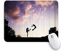 NIESIKKLAマウスパッド ロマンチックな美しい夕日 ゲーミング オフィス最適 高級感 おしゃれ 防水 耐久性が良い 滑り止めゴム底 ゲーミングなど適用 用ノートブックコンピュータマウスマット