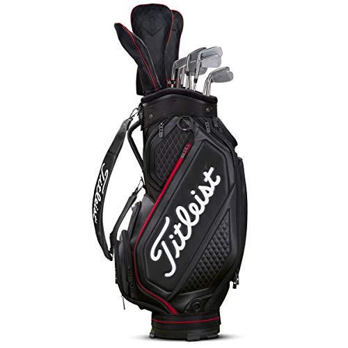 Titleist Midsize Golf Bag Black/Black/Red