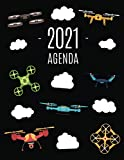 Drone Agenda 2021: Planificador Semanal | Quadcopter | 52 Semanas Enero a Diciembre 2021