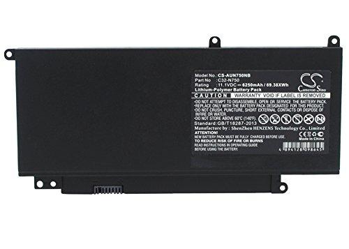 CS-AUN750NB Batteria notebook 6250mAh compatibile con [ASUS] N750, N750JK, N750JV, N750JV-QB72-CB, N750JV-T4069H, N750JV-T4090H, N750JV-T4110H, N750JV-T4124H, N750Y47JV-SL sostituisce C32-N750