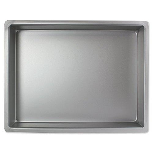 PME Oblongo Molde para Pastel de Aluminio, Plateado, 12 x 16 x 2 Pulgadas