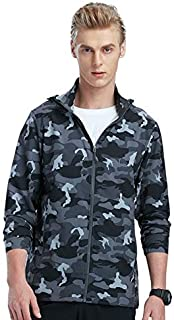 BEESCLOVER Spring Summer Men Sun-Protective Breathable Thin Jackets Male Outdoor Coats Sports Elastic Wear-Resistant Hiking Jacket