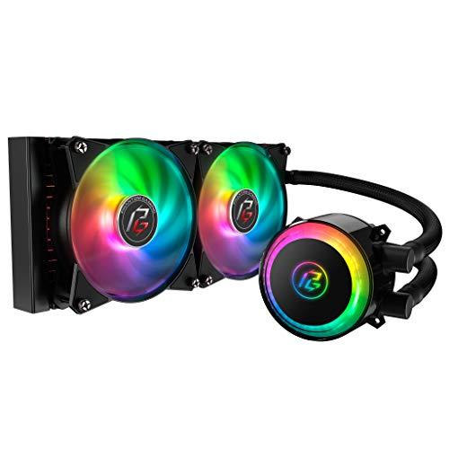 Cooler Master MasterLiquid ML240R Phantom Gaming ARGB Close-Loop AIO CPU Liquid Cooler, 240 Radiator, Dual Chamber Pump, Addressable RGB Lighting, MF120R Fans, for AMD Ryzen/IntelLGA1200/1151