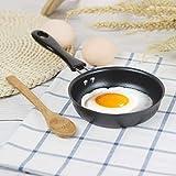 Mini sartén - Sartén portátil Pequeño huevo escalfado Panqueque redondo Mini sartén antiadherente Hogar Cocina pequeña 4.7 pulgadas