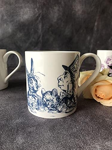 Coffee Cup Mug Breakfast Cup Bone China Mug Alice in Wonderland Dinner Plate Afternoon Tea Cup Gift Collection Cup