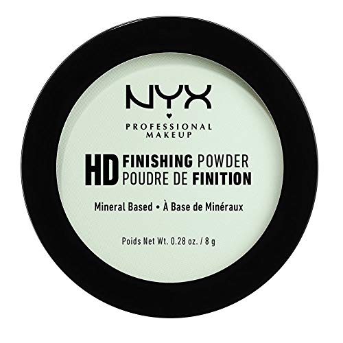 NYX Professional Makeup High Definition Finishing Powder, Gepresstes Puder, Perfektionierte Haut, Mattes Finish, Ölabsorbierend, Vegane Formel, Farbton: Mint Green