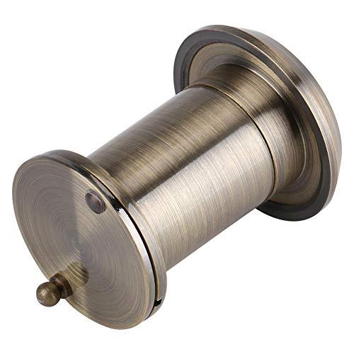 GOTOTOP Visor de Puerta HD de 22 mm 220 ° Mirilla de ángulo de visión Amplio con Cubierta de privacidad de Alta Resistencia Accesorios de Puerta antirrobo de Vidrio óptico de Cobre(Bronce)