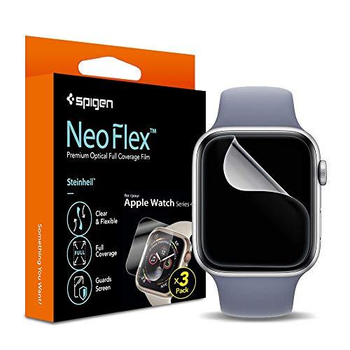 Pack 3x Pelicula Original Spigen Apple Watch S4 S5 40mm Neoflex Hd
