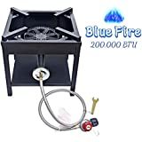 ARC USA, 4242S 200,000BTU Outdoor High Pressure Cast Iron Propane Gas Cooker, Camping Stove, Adjustable 0-20 PSI CSA Regulator&Hose, Great for Outdoor Cooking and Back Yard, NO Assembly Required
