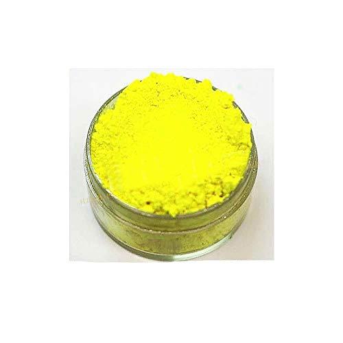 KandyDip Effektpigment NEON GELB Yellow Flourescent FLUORESZIEREND Farbpulver Pigment für Epoxidharz Autolack Sprühfolie Pigmente Aquarell Seife Powder (25 Gramm)