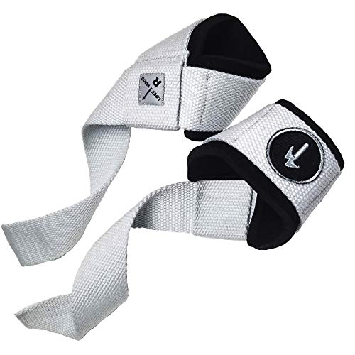 LOCK-WOOD Weightlifting Wrist Support Straps Lift Heavier & Secure Your Grip for Deadlifts, Chin-ups, LAT Pull Downs, Hanging Leg/Knee Raises, Dumbell Rows, Kettlebells, etc.