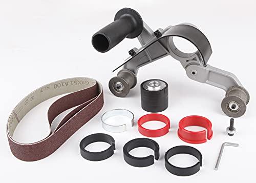 Aidelife Accesorio de lijadora de correa de tubo, acero inoxidable, metal, pulido de tubos, pulido