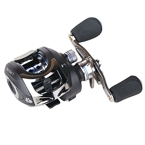 Entsport Casting Reel Low Profile Baitcast Fishing Reel 10+1 Ball Bearings Baitcaster Reel 6.3:1 Baitcasting Reel Magnetic Brake System Fishing...