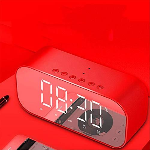 Alarma Electrónica Reloj Multifunción Reloj De Dígitos Wireless FM Radio Reloj USB Interior Al Aire Libre Inalámbrico Despierto Con Función De La Función Termómetro Higrómetro 3 Niveles Brillo,Rojo