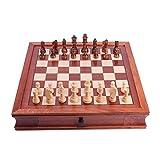 RJJX Home Tablero de ajedrez la decoración del hogar de ajedrez de Madera del Juguete educativos del Sistema magnético de ajedrez la decoración del hogar de Escritorio (Color : M)