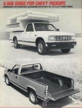 1989 CHEVROLET PICKUPS BOX GUIDE PART-COLOR SALES BROCHURE - ORIGINAL - USA - USEFUL& NICE !!