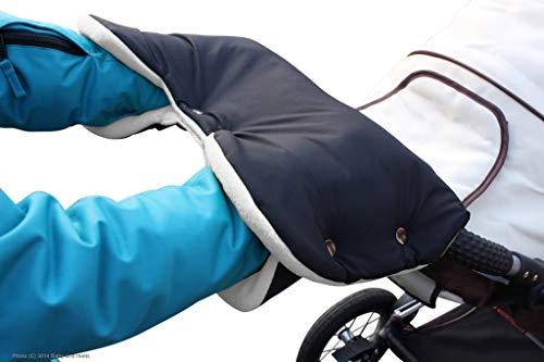 ByBoom Kinderwagen Handwärmer, Muff mit Fleece Innenseite, Universalgröße für Kinderwagen, Buggy, Radanhänger