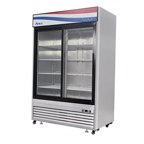 BRAND NEW COMMERCIAL 2 Sliding glass door refrigerator Stainless Steel