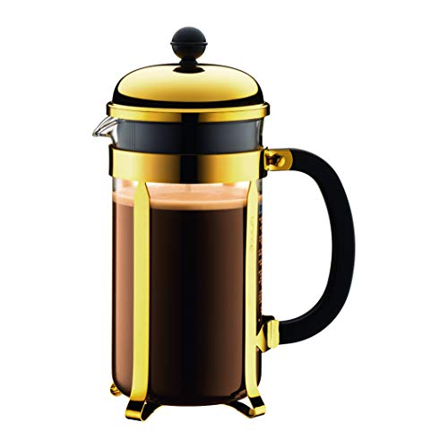 BODUM ボダム CHAMBORD シャンボール フレンチプレス コーヒーメーカー 1L ゴールド 【正規品】 1928-17