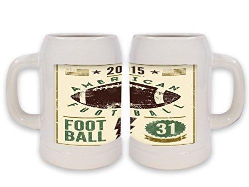 Boccale Birra Retro Football americano Stampato