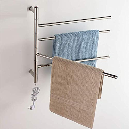 GPWDSN RVS elektrisch verwarmd warme radiator wandhouder handdoekhouder badkamer