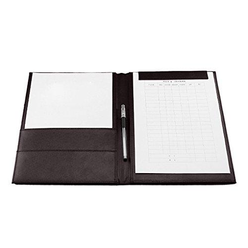 a4クリップボード 二つ折り ファイルボード フォルダー/書類入れ/資料挟み 磁石クリップ ファイルホルダー 名刺入れポケット付き 多機能 高級 革製ボード オフィス 事務用品