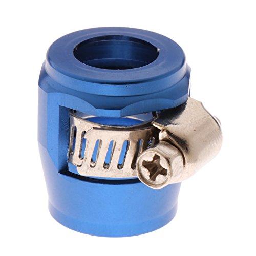 MagiDeal AN8 Voiture Carburant Huile Tuyau d'eau Tuyau Finisseur Pince Clip en Aluminium - Bleu