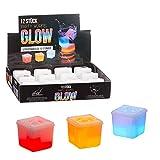24 x Eiswürfel leuchtend'GLOW' 3 x 3 cm Knicklichter Party Cocktails Bar Würfel (24 x Eiswürfel'Glow')