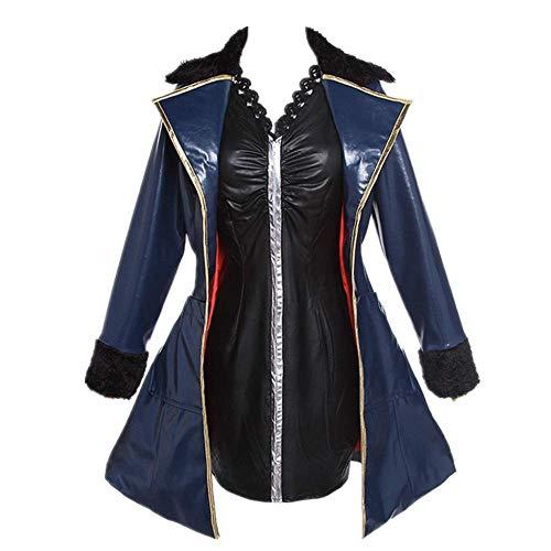 CHANGL Cosplay Kostüm Halloween Karneval FGO Schicksal/Grand Order Mash Kyrielight Sabre Tägliche Uniform Anzüge für Frauen sexy Lederkleid Kleid Hohe Qualität