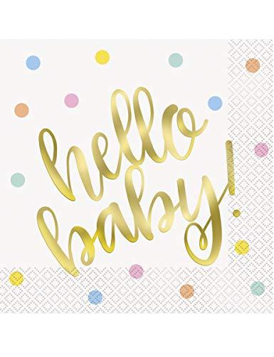 """Unique Party Girlande, Motiv: """"Hello Baby"""""""