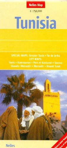 Túnez 1:750 K Nelles Mapa de viaje