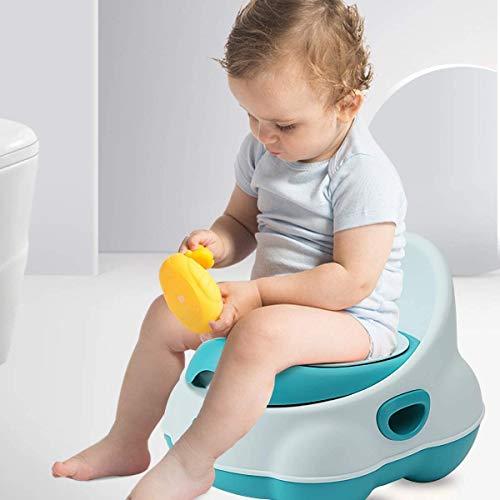 ZZPD Baby Potty Stoel Ergonomisch Ontwerp Children's toilet Draagbare reizen Baby Potty met Deksel Mini Leuke Children's Potty