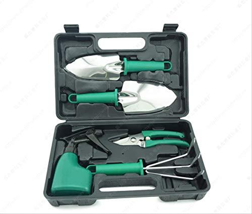 JFZCBXD Fünf-teiliges Edelstahl-Garten-Werkzeug/Kunststoff-Box Fünf-Stück