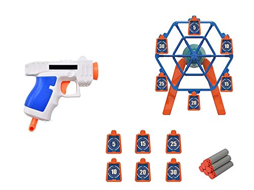 HHYSPA Electric Shooting Toy, Electronic Rotating Target for Nerf Guns, Target Game for Kids with Foam Dart Gun, Best Gifts for Kids