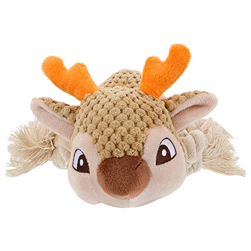 Balacoo Dog Chew Toys Puppy Squeaky Toy Reindeer Stuffing Plush Pet Toy Dog Interactive Toy Fur Toys for Small Medium Large Dog Pets