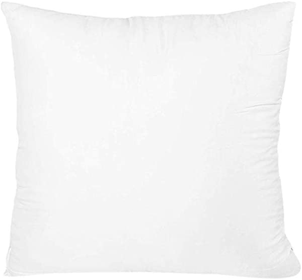 Transser Throw Pillow Core Solid Premium Hypoallergenic Stuffer Standard Square Inner Insert Cushion For Sofa Couch Bed Car 16 18 20 22 24 26 18x18 Inch White 1pc