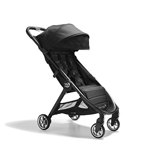 Baby Jogger City Tour 2 Travel Pushchair   Lightweight, Foldable & Portable Buggy   Pitch Black