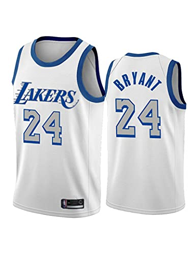 Kfdfns Camiseta de Hombre NBA Jersey Los Angeles Lakers # 24 Kobe Bryant Ropa de Entrenamiento de Baloncesto Sudaderas Chaleco sin Mangas Transpirable Top Informal