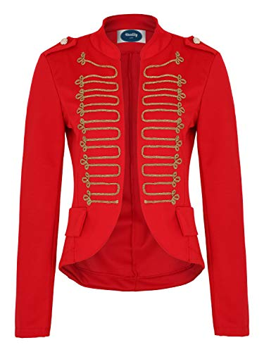 4tuality AO Damen Military Blazer Stickerei Slim fit Gr. M Rot