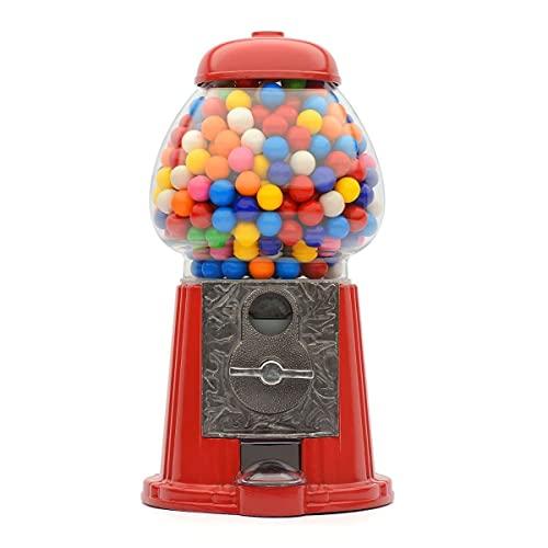 CKB LTD Gobstoppers Bob Bons Round Chocolates Gumballs Mixtos Snacks frutos secos de almacenamiento – Ahorro de monedas, tamaño grande, 28 cm, color rojo
