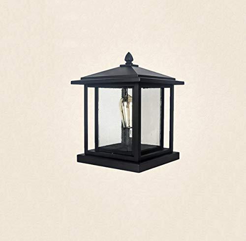 GUOGUOSM Estilo chino Valla tradicional Columna Faro europeo Vintage Retro Luz de jardín Luces de jardín Luces de jardín Luces de paisaje Parque Pilar Linterna Impermeable