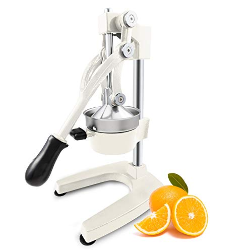 ROVSUN Commercial Grade Citrus Juicer Hand Press Manual Fruit Juicer Juice Squeezer Citrus Orange Lemon Pomegranate (White)