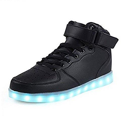 Unisex Niños USB Carga LED Luz Luminosas Flash Zapatos Zapatillas de Deporte para Los Reyes Magos