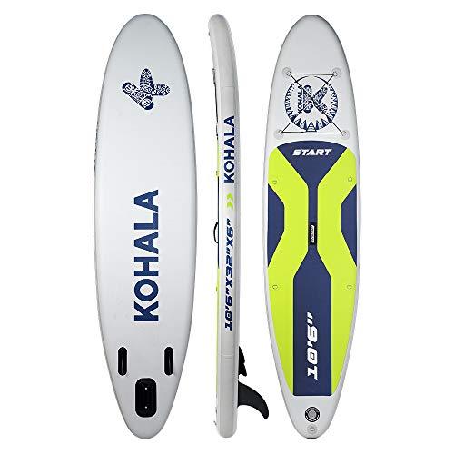 DV SPORT Kohala Tabla de Paddle Surf Start Color Blanco - Tipo Beginner - Capacidad Máxima 140 kg - Aletas 3 (2+ 1)