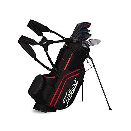 Product Image 2: Titleist - Hybrid 14 Golf Bag - Black/Black/Red