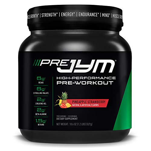 JYM Supplement Science Pre 20 Servings Pineapple Strawberry PRE20PS