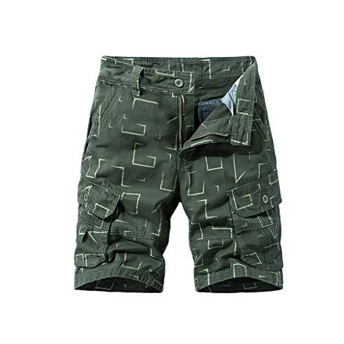 FRAUIT Pantaloncini Uomo Cargo Corti Bermuda Ragazzo Lavoro Shorts Pantaloni Uomini Estivi con Tasche Laterali Pantalone Tuta Casual Elegante Pantaloncino Tronchi Spiaggia Piscina Mare